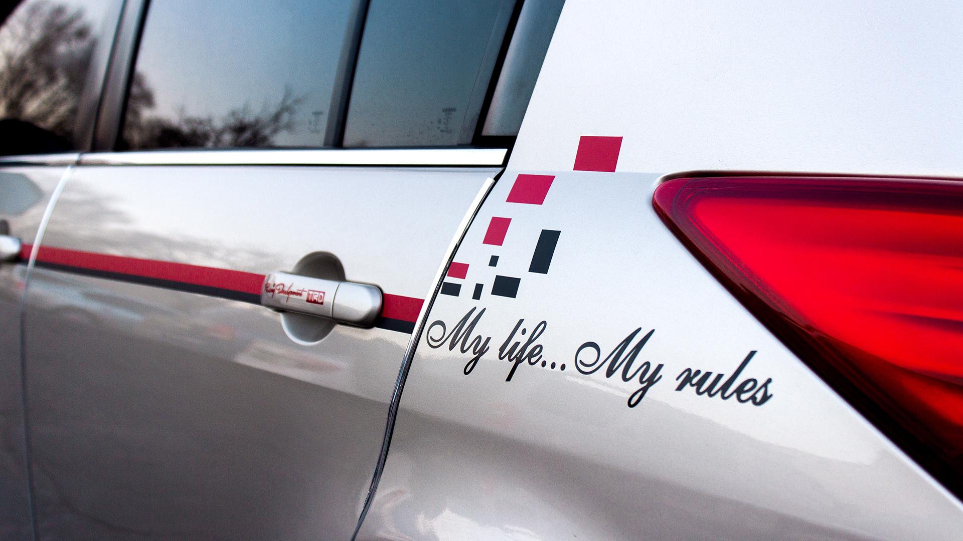 Car branding with vinyl